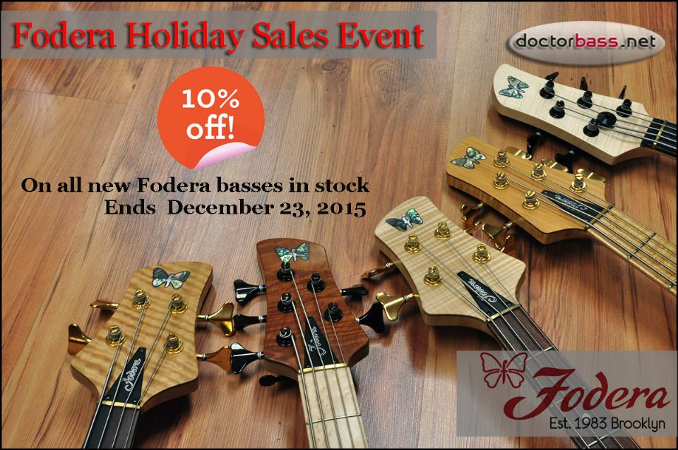 Fodera Holiday Sales Event